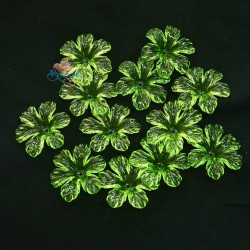 #398 Acrylic Transparent Flower Bead 3cm - Apple Green (20gram/pack)