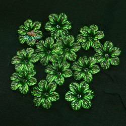 #398 Acrylic Transparent Flower Bead 3cm - Green (20gram/pack)
