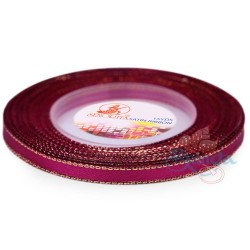 6mm Senorita Gold Edge Satin Ribbon - Fuchsia 17G