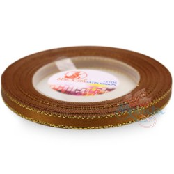 6mm Senorita Gold Edge Satin Ribbon - Classic Gold 226G