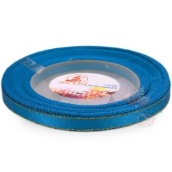6mm Senorita Gold Edge Satin Ribbon - Dress Blue 24G
