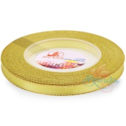 6mm Senorita Gold Edge Satin Ribbon - Corn 2G