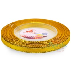 6mm Senorita Gold Edge Satin Ribbon - Dandelion 31G