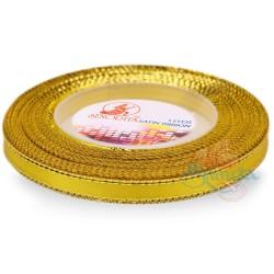 6mm Senorita Gold Edge Satin Ribbon - Yellow 3G