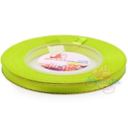 6mm Senorita Gold Edge Satin Ribbon - Grass Green 535G