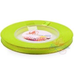6mm Senorita Gold Edge Satin Ribbon - Grass Green 535G