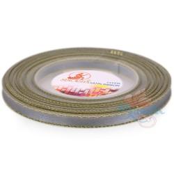 6mm Senorita Gold Edge Satin Ribbon - Light Grey 77G