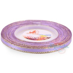 6mm Senorita Gold Edge Satin Ribbon - Lavender 804G