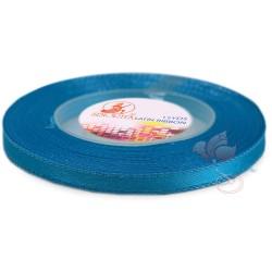6mm Senorita Silver Edge Satin Ribbon - Dress Blue 24s