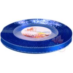 6mm Senorita Silver Edge Satin Ribbon - Electric Blue 25s