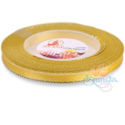 6mm Senorita Silver Edge Satin Ribbon - Yellow 3s