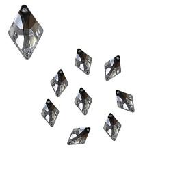 Acrylic Stone Sew On Diamond Shape White 8mm x 12mm - 20pcs (RA)