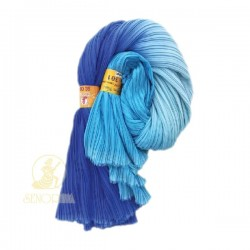 Chiffon Fabric Pleated 3 Tone Blue 60 inch Wide - 5 Meters