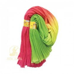 Chiffon Fabric Pleated 3 Tone Pink Yellow Green 60 inch Wide - 5 Meters