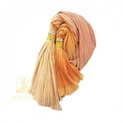 Chiffon Fabric Pleated 3 Tone Beige Peach Orange 60 inch Wide - 5 Meters