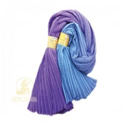 Chiffon Fabric Pleated 3 Tone Purple Blue 60 inch Wide - 5 Meters