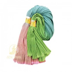 "Chiffon Fabric Pleated 3 Tone Pink Teal Green 60"" Wide - 5 Meters"