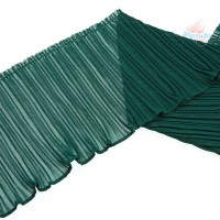 20cm Chiffon Pleated Trimming Green - 1 Meter