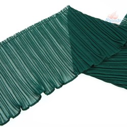 15cm Chiffon Pleated Trimming Green - 1 Meter