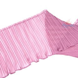 15cm Chiffon Pleated Trimming Light Purple - 1 Meter