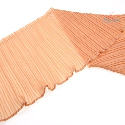 20cm Chiffon Pleated Trimming Peach Brown - 1 Meter