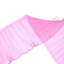 15cm Chiffon Pleated Trimming Pink - 1 Meter