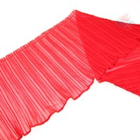 20cm Chiffon Pleated Trimming Red - 1 Meter