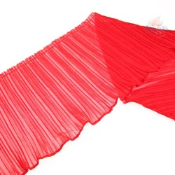 15cm Chiffon Pleated Trimming Red - 1 Meter
