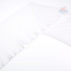 20cm Chiffon Pleated Trimming White - 1 Meter