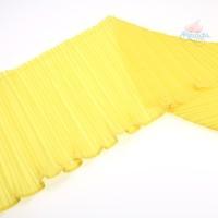 20cm Chiffon Pleated Trimming Yellow - 1 Meter