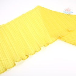 15cm Chiffon Pleated Trimming Yellow - 1 Meter