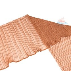 20cm Chiffon Pleated Trimming Brown - 1 Meter
