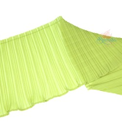 15cm Chiffon Pleated Trimming Grass Green - 1 Meter