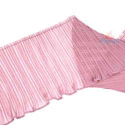 15cm Chiffon Pleated Trimming Light Magenta - 1 Meter