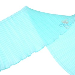 15cm Chiffon Pleated Trimming Light Turquoise - 1 Meter