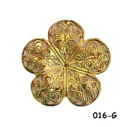 Brass Filigree Findings 016 Gold - 100gram