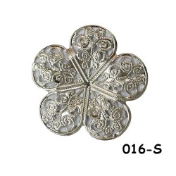 Brass Filigree Findings 016 Silver - 100gram