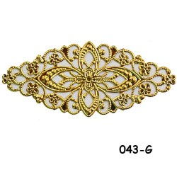 Brass Filigree Findings 043 Gold - 100gram