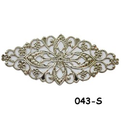 Brass Filigree Findings 043 Silver - 100gram