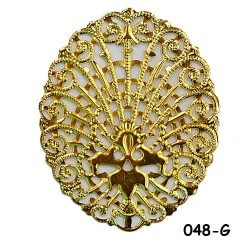 Brass Filigree Findings 048 Gold - 100gram