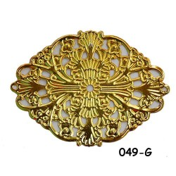 Brass Filigree Findings 049 Gold - 100gram