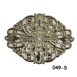 Brass Filigree Findings 049 Silver - 100gram