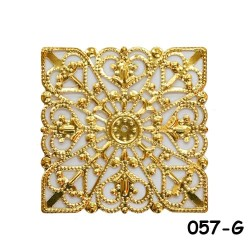 Brass Filigree Findings 057 Gold - 100gram