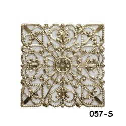 Brass Filigree Findings 057 Silver - 100gram