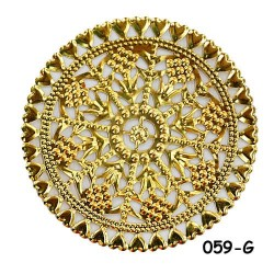 Brass Filigree Findings 059 Gold - 100gram