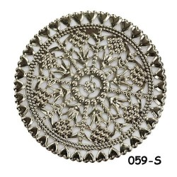Brass Filigree Findings 059 Silver - 20gram