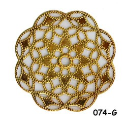 Brass Filigree Findings 074 Gold - 100gram