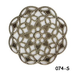 Brass Filigree Findings 074 Silver - 100gram