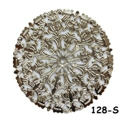 Brass Filigree Findings 128 Silver - 100gram