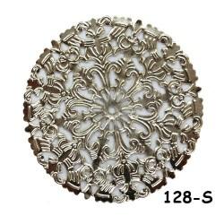 Brass Filigree Findings 128 Silver - 100gram